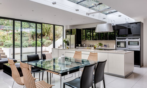 Contemporary kitchen designer by Interior Designer Hilary White in Long Ditton in Surrey