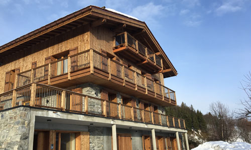 Ski Chalet Exterior, Courchevel, France