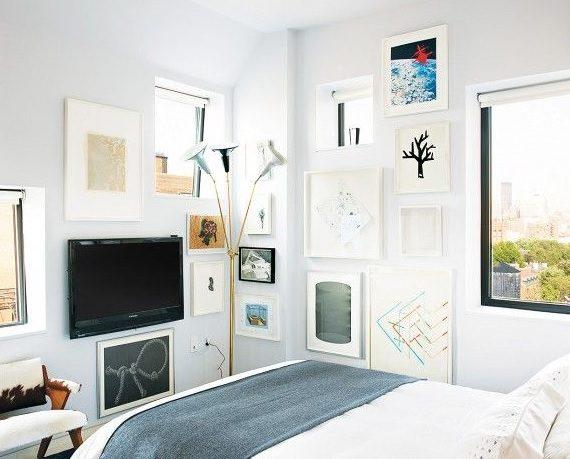 Disguising a television in an interior design scheme