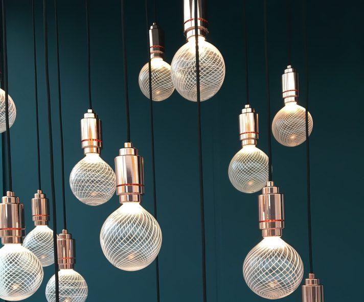 Filigrana lighting design by Jonathan Rogers Glass at Decorex, London Design week 2018