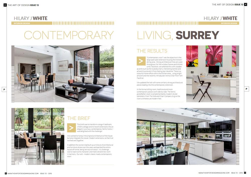 The Art of Design Magazine Spread