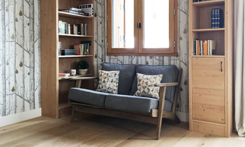 Ski Chalet Sofa and Bookcase, Courchevel, France
