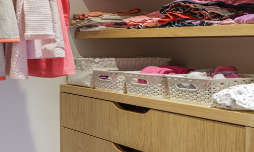 Bespoke wardrobe designed by Hilary White Interiors in Surrey