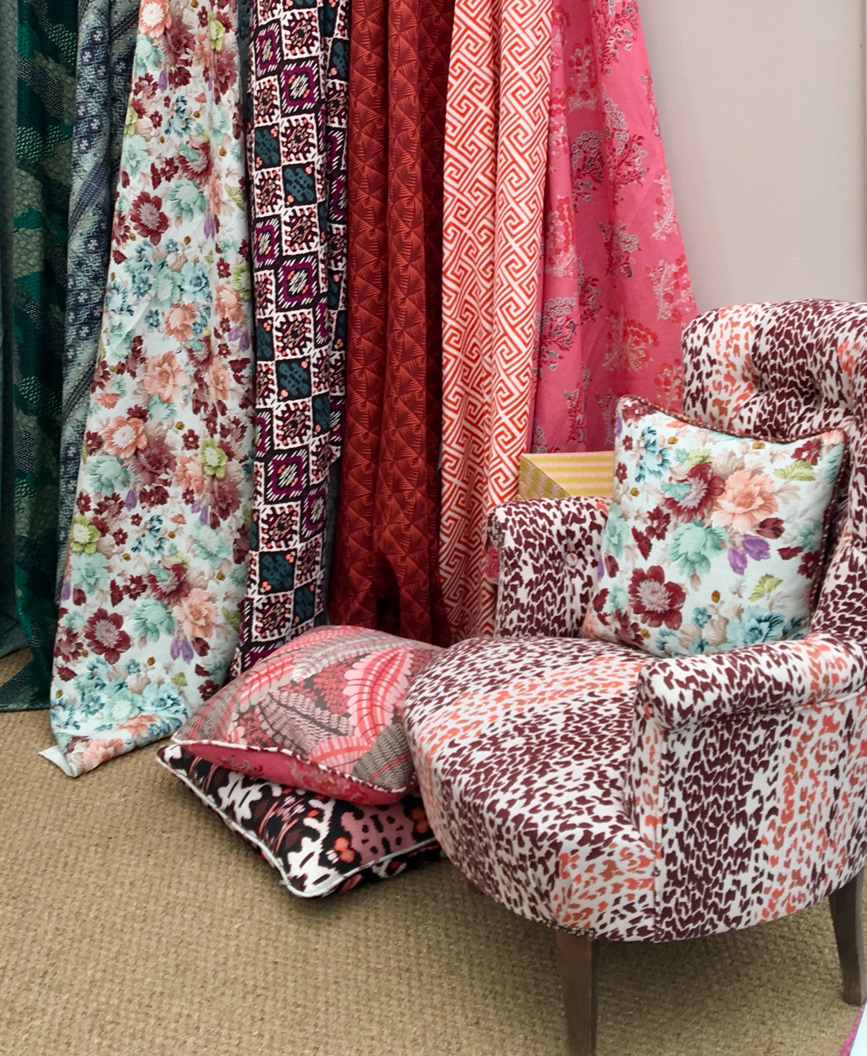 Animal print and Latest fabric designs from textile designers Parker and Jules