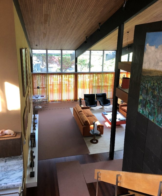 Interior of the Stanley Picker House, a mid-century modern house in Surrey