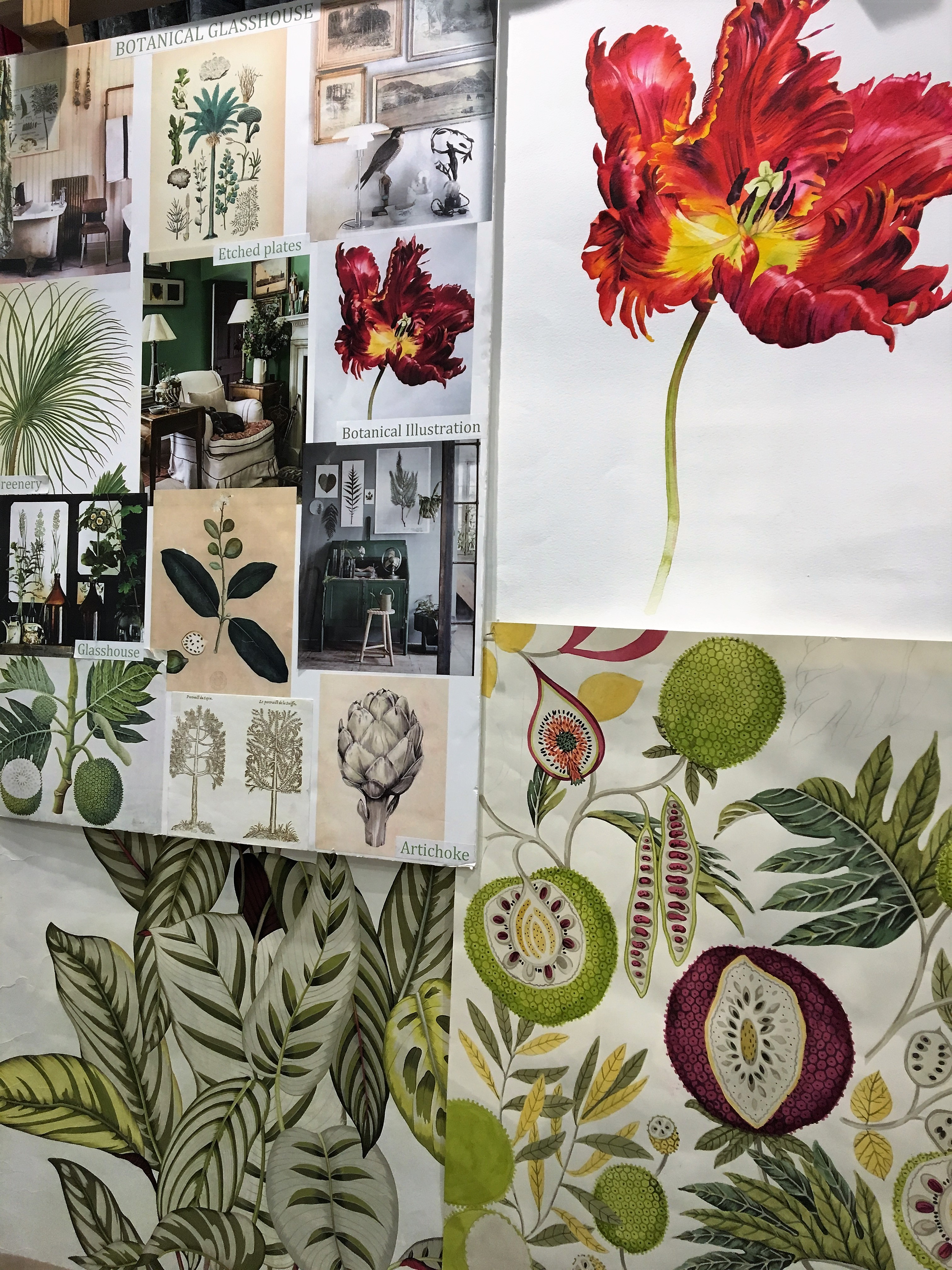 New botanical fabric design from Sanderson
