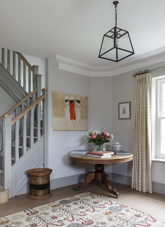 welcoming entrance hall in a period townhouse