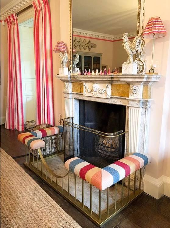 Sitting room of luxury Knitwear designer Alex Gore Brown